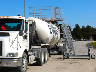 portable truck safety handrail