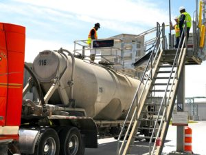cement truck loading fall protection gangway