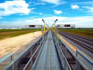 rail car access rack