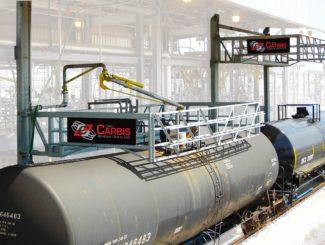 rail car full enclosure fall protection system