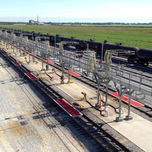 oil rail car loading rack